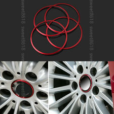 4x Red Wheel Center Hub Ring Adorn Cover Trim For BMW 6 Series F06 F12 F13 12-17