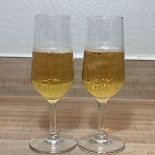 Set of 2 Bormioli Rocco Fluted Wine Champagne Glasses