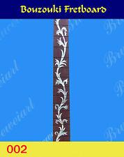 Free Shipping, Guitar Part - Bouzouki Slotted Fretboard w/ Mop Art Inlay (002)