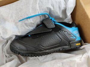 Shimano Cycling Shoes SH-AM7 Black Blue Bicycle Mountain MTB Sz 39 / 8.5 US