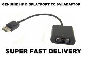 HP DISPLAYPORT TO DVI ADAPTOR P/N 752660-001 SPN:753744-001 - FAST DELIVERY
