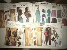 Lot of 7 New Womans Sewing Patterns McCalls, Simplicity, & New Look