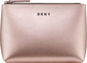 DKNY Metallic Blush Pink Clutch / Make Up Bag / Purse / Pouch. Donna Karan