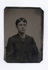 PHOTO ANCIENNE CDV Tintype Ferrotype Vers 1870 Jeune Garçon Costume Homme