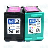 2 Genuine HP 94+95 Black & Color Ink DeskJet 460 6620 Photosmart 7850 8150 8750