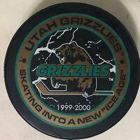 Utah Grizzlies Puck 1999-2000 Ice Age - IHL Minor League Ice Hockey