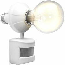 LED Concepts Motion and Dusk to Dawn Sensor Activated Light Bulb Socket Cap