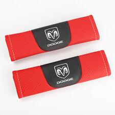 2Pcs Red Color Car Seat Belt Shoulder Cushion Cover Pad Fit For Dodge Auto