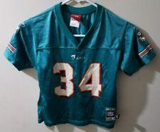 Reebok Ricky Williams Miami Dolphins #34 Football Jersey Boy Large 7