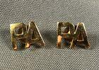 Pennsylvania State Guard Officer Collar Insignia Pins Pair Gemsco AGO SB 874B