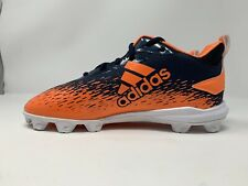 Adidas Afterburner Youth Size 4 Blue Orange Baseball Softball Cleats New