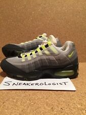 SAMPLE NIKE AIR MAX 95 SC SZ 9 neon yellow grey 1997 vintage psi rare og retro