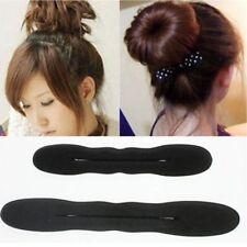 2pcs Magic Sponge Clip Hair Styling Twist Tool Foam Donut Bun Curler Maker Ring