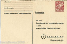 SBZ Alliierte Besetzung SDP 1 B II Suchdienst für vermisste Deutsche in der SBZ