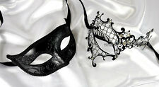 Men Women Couple Black Collection B15 Venetian Masquerade Metal Ball Party Mask