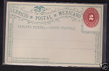 Mexico 2c Postal Stationery Postcard 1890's