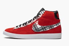 Nike Ben Simmons Blazer Mid PRM Shoes Red/Suede Plaid Size 9.5