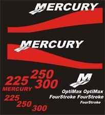 Adesivi motore marino fuoribordo Mercury bande ross 225 fino a 300 hp optimax 4t