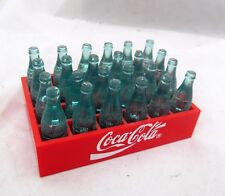 VTG COCA-COLA Coke Collectible Doll Size Mini MINIATURE BOTTLES Plastic CRATE