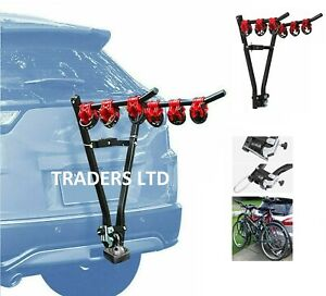 3 Bike Tow Bar Towbar Towball Mount Cycle Bicycle Carrier Car Van Rack