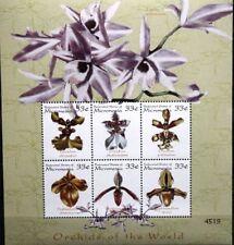 MICRONESIA MIKRONESIEN 2000 899-16 Block 60-61 Orchideen Orchids Blumen Flowers