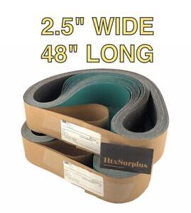 "🌟(50 Belts) 3M 577F Film-Lok Cloth Sanding Belts, 2-1/2"" x 48"", Grade 180 Grit"