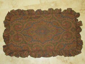 Vintage Ralph Lauren BRIANNA Paisley brown ruffle KING sham pillowcase