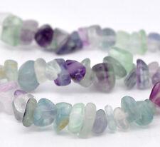 "1 Strand (34"") Fluorite Gemstones Bead Chips 5mm - 10mm Stones J11231XB"