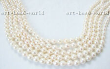 6.5-7mm white genuine Natural  sea water pearl loose beads USA RUSSIA BYEUB