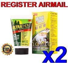 3M Ultrathon Mosquito Bug Repellent lotion water splashes sweat Resists rain x 2