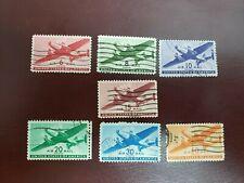 US 1941-1944: #C25-C31 - Complete Used Transport Plane Set: Lot#1/25