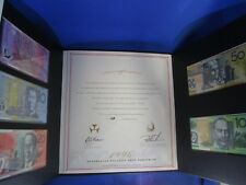 1996 AUSTRALIAN POLYMER NOTE PORTFOLIO COMMEMORATING THE WORLD FIRST SERIES