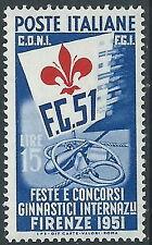 1951 ITALIA GINNICI 15 LIRE MNH ** - W5-2