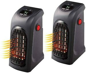 400W, Mini Plug-In LED Electric Heater,Portable Electric Air Heater Office, Home