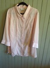 Vintage Cathy Che size 26/28 pink button up blouse