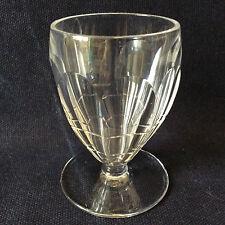 Verre à vin blanc H ± 8,3 cm  en cristal école de Lorraine taillé France