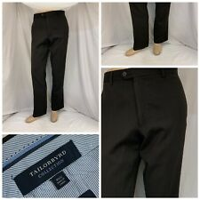 NWT TAILORBYRD COLLECTION Mens Charcoal Gray Flat Front Pants
