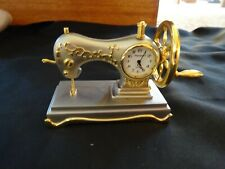 Miniature Sewing Machine Clock - Has Moving Parts
