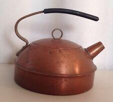 Antique Vintage Art Deco Modern solid copper Revere Tea Pot Kettle collectible