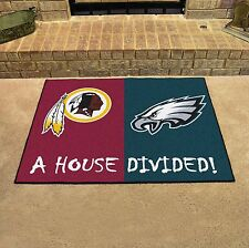 Washington Redskins - Philadelphia Eagles House Divided All Star Area Rug Mat