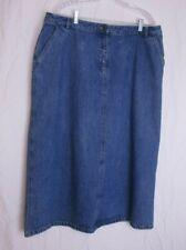 LL Bean Womens Denim Jean Skirt  size 20 pet
