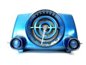 VINTAGE 50s OLD CROSLEY MID CENTURY ATOMIC ANTIQUE LUCITE TUNER RADIO & PLAYS