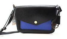 Authentic Michael Kors Black Electric Blue Greenwich Colour PKT Crossbody Bag