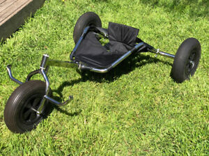 """Kite Buggy - Stainless Steel Narrow Axle with 4"""" Narrow Tires"""