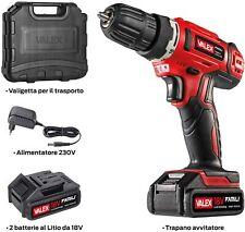 Trapano avvitatore a batteria Valex Family Tech 218 kit valigetta 2 batterie 18V