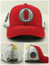 c921ca3ef23 Ottawa Senators Adidas New NHL 100 Classic Red White Era Flex Fitted Hat  Cap S