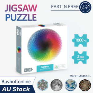 Jigsaw Puzzles 1000 Piece Rainbow Puzzle Adult Kids Home Decor Family Toys Games