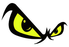 Ojos Amarillos Auto Adhesivo Bicicleta Moto Coche Pegatinas signos de seguridad