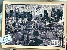 Nine Inch Nails Los Angeles La Screen Print Poster S/N Signed Ap #/75 James Eads