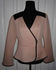 Project Runway All Stars by Seth Aaron Womens Faux Leather Trim Jacket Sz 10
